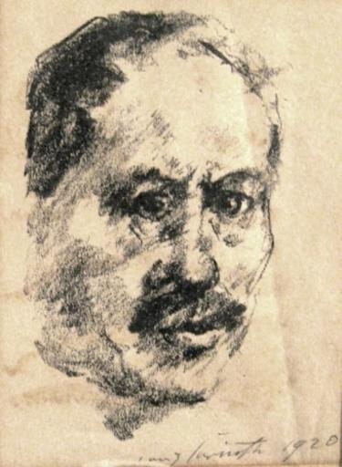 洛维斯·科林斯 - 版画 - Selfportrait | Selbstbildnis