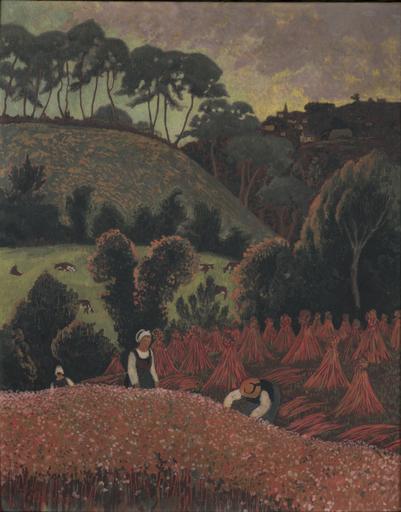 Paul SÉRUSIER - Pintura - La moisson du sarrazin, vue sur Châteauneuf-du-Faou