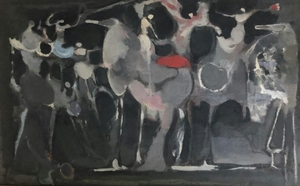 Alfred ABERDAM - Painting - Horses and Riders