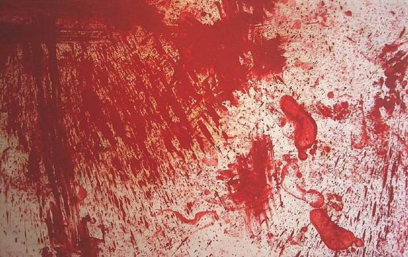 Hermann NITSCH - Painting - Senza titolo 1987