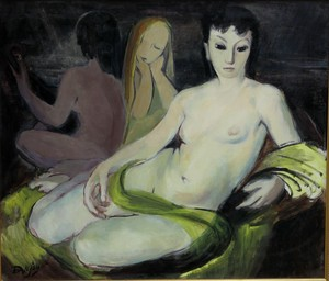 Paule DANJOU - Painting - TROIS FEMMES