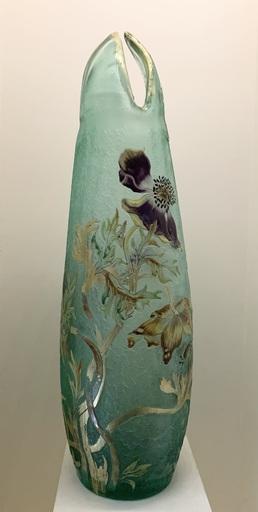 Émile GALLÉ - Skulptur Volumen - Grand vase aux anémones