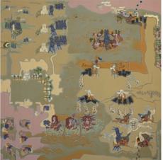 Klaus LIEBIG - Painting - AL MOQUANNA, 1973