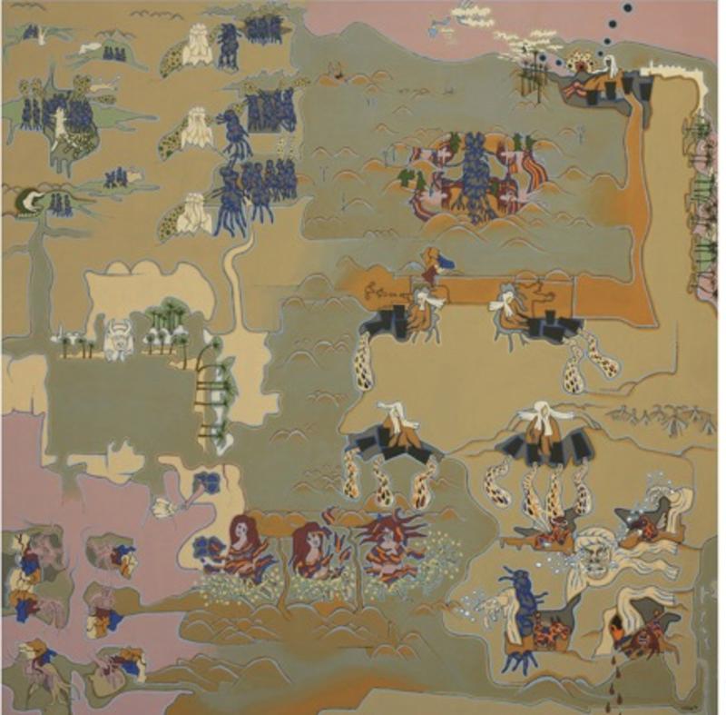 Klaus LIEBIG - Pittura - AL MOQUANNA, 1973