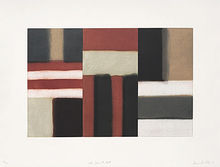 Sean SCULLY - Grabado -  Cut Ground Read