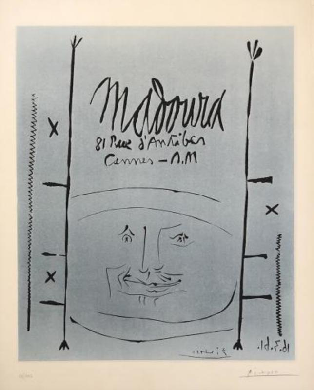 Pablo PICASSO - Stampa Multiplo - Blue Face for Madoura