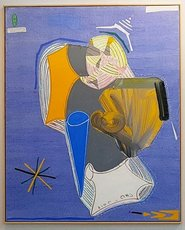 "Christian BONNEFOI - Drawing-Watercolor - Dos - ""Le momo"""