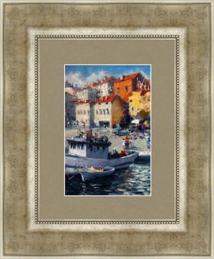 Levan URUSHADZE - Gemälde - Landscape with tow boat