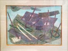 Henri GOETZ - Disegno Acquarello - Bois à Étretat