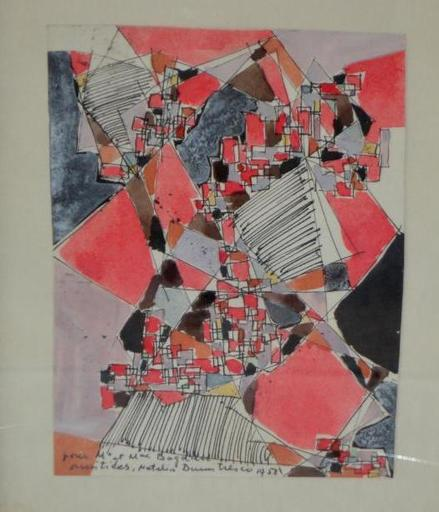 Natalia DUMITRESCO - Dessin-Aquarelle - Abstract Composition