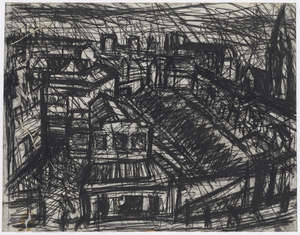 Leon KOSSOFF - Drawing-Watercolor - Dalston Junction