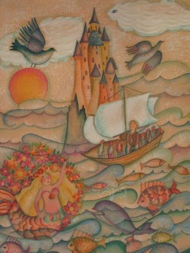 Françoise DEBERDT - 版画 - La Siréne,1986.