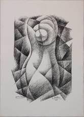 Gerardo DOTTORI - Grabado - Ritratto di forme femminile