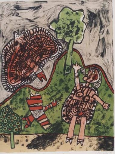 CORNEILLE - Print-Multiple - Le dialogue avec l'arbre