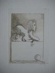 Jorge CASTILLO - Grabado - GRAVURE 1977 SIGNÉE AU CRAYON NUMXXV HANDSIGNED NUMB ETCHING