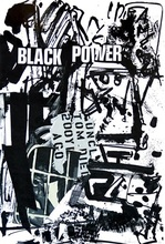 Emilio VEDOVA - Grabado - Black power