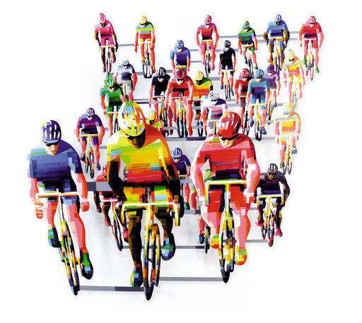 David GERSTEIN - Sculpture-Volume - Tour de France (frontal)