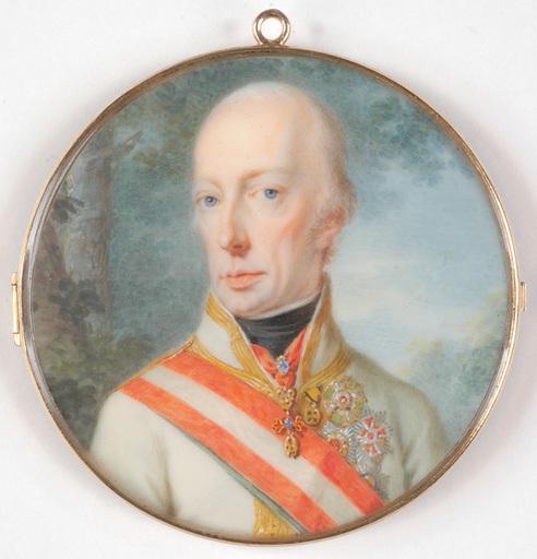 "Johann Baptist I VON LAMPI - Miniatur - ""Franz I and his fourth wife"" two important miniatures"