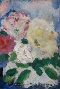 Kees VAN DONGEN - Pittura - Bouquet de fleurs