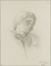 Alexandre CABANEL - Drawing-Watercolor - Portrait d'homme