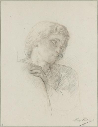 Alexandre CABANEL - Drawing-Watercolor - Portrait d'homme