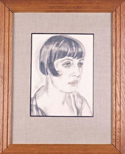 Zygmunt SZPINGIER - Zeichnung Aquarell - Portrait de femme