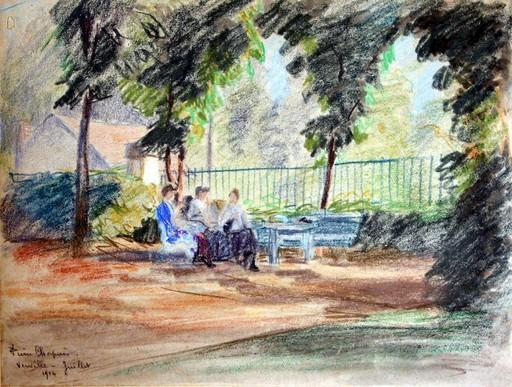Pierre CHAPUIS - Drawing-Watercolor - au parc