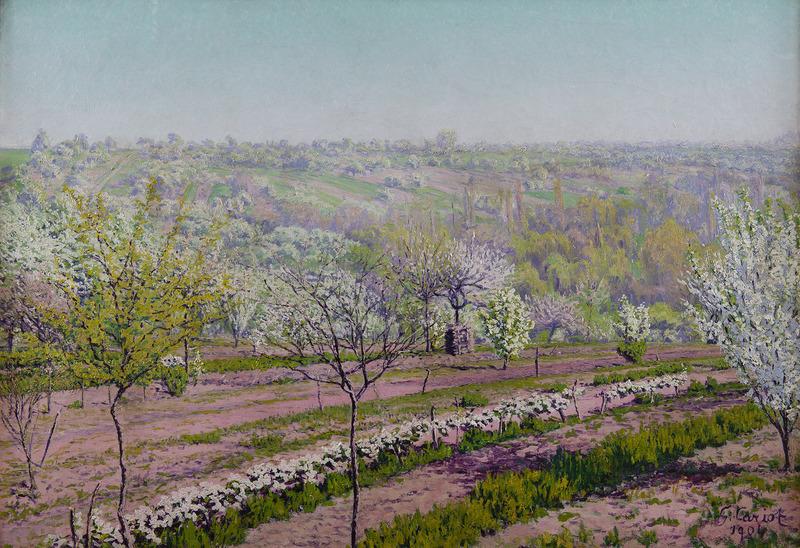 Gustave CARIOT - Painting - Verger au printemps