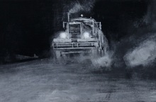 Alexey ALPATOV - Painting - Night Road VIII