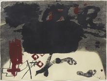 Antoni TAPIES (1923-2012) - Roig i negre 4