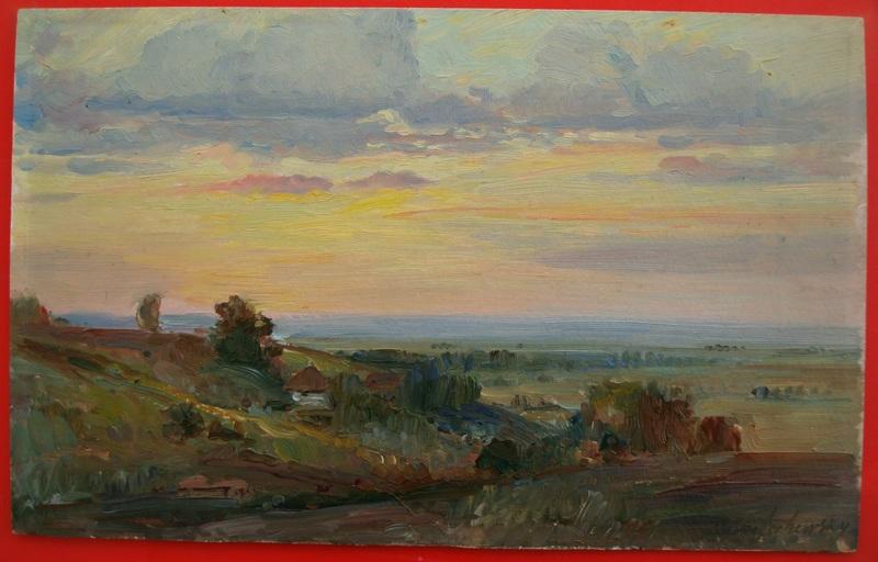 Basil KRITSCHEWSKY - Painting - Ukrainische Landschaft