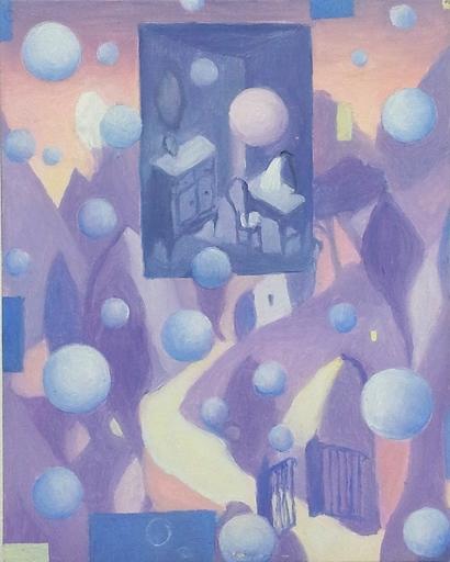 Pino DEODATO - Painting - paesaggio