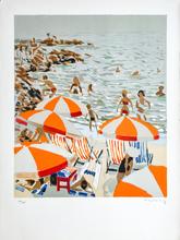 Pierre Emile Gabriel LELONG - Grabado - Sur la plage