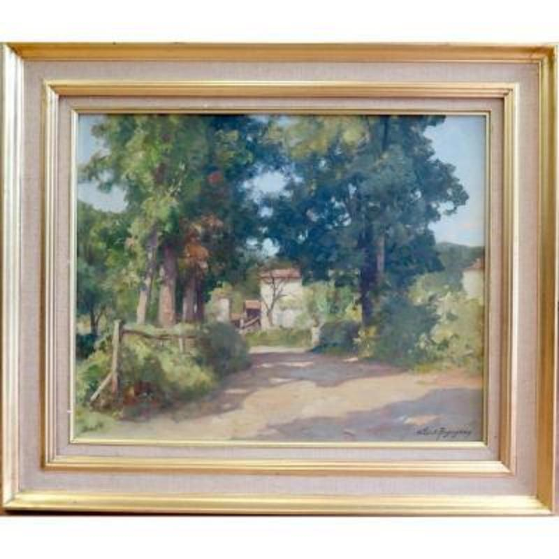 Albert REGAGNON - Painting - Sentarailles, Ariège
