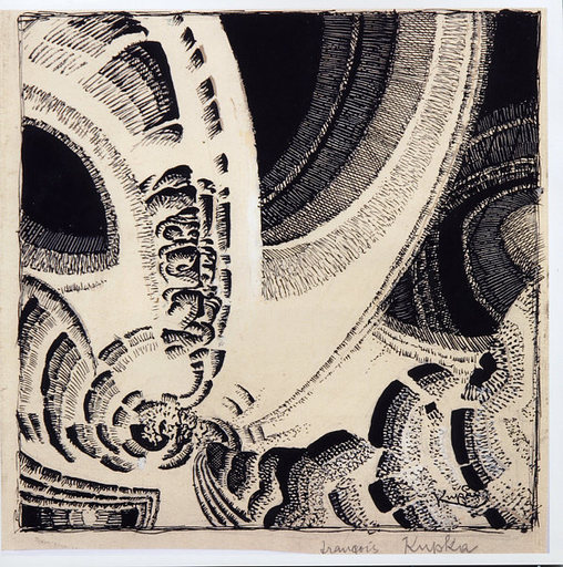Frantisek KUPKA - Disegno Acquarello - Effet de spirale