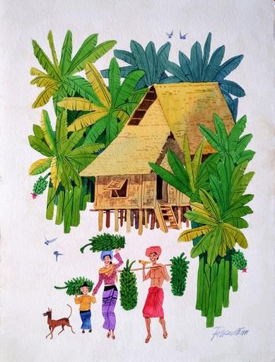 PAW OO THETT - Drawing-Watercolor - Banana farmer
