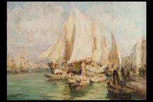 Angelo BROMBO - Pintura - Venezia, il Canale della Giudecca