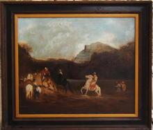 Frederic Arthur BRIDGMAN - Peinture - Crossing the River