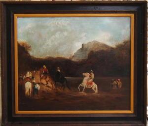 Frederic Arthur BRIDGMAN - Pintura - Crossing the River