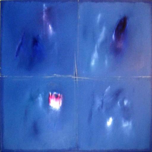 Ennio FINZI - Painting - architettura del colore in blu