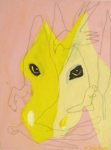 Menashe KADISHMAN - Gemälde - Horse's Head and Sketch - Rare