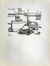 François BRET - Grabado - Port de pêche