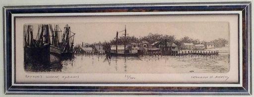 Leonard MERSKY - Estampe-Multiple - Baxter's Wharf, Hyannis