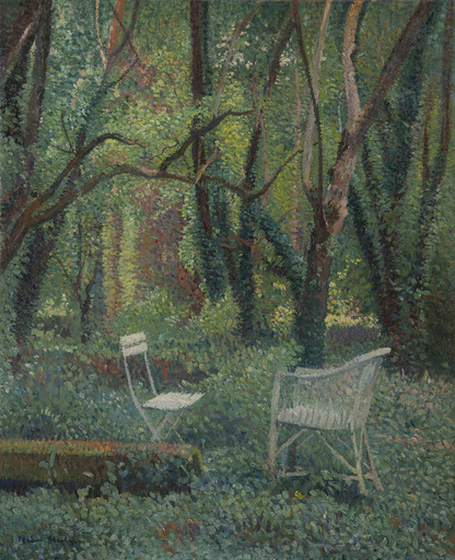 亨利•马丁 - 绘画 - Au coeur du parc de Marquayrol