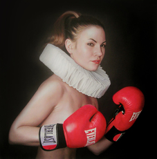 Frank E. HOLLYWOOD - Pittura - Float Like a Butterfly Sting Like a Bee