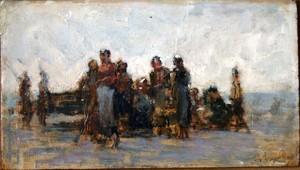 François FEYEN-PERRIN - Pintura - Les ramasseuses de coquillage