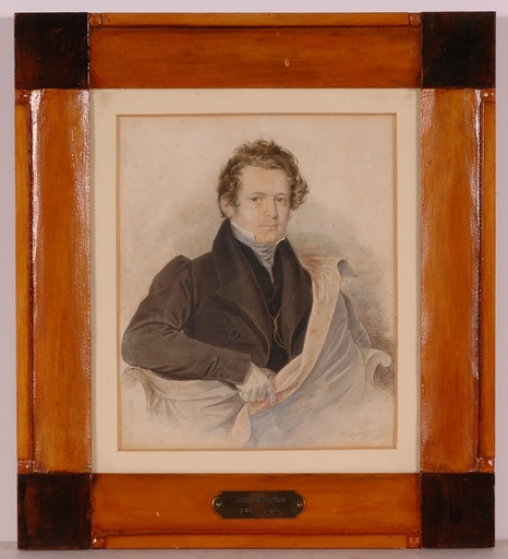 """Josef KRIEHUBER - Dessin-Aquarelle - """"Portrait of a Gentleman"""", 1829, Watercolor"""