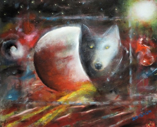 Didier DOIGNON - Pintura - Le loup ( The wolf )