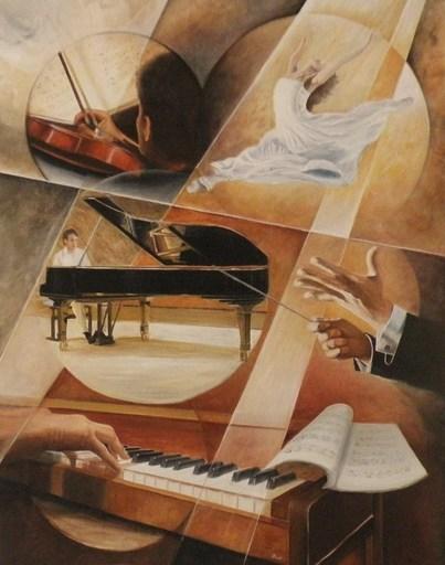 Frank GODILLE - Peinture - composition et écriture chorégraphique