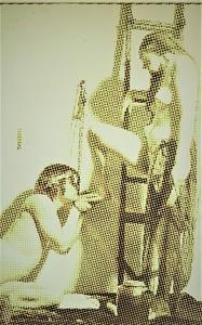 Alain JACQUET - Gemälde - L'ÉCHELLE - 1969